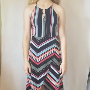Candie's Striped High Low Maxi Dress